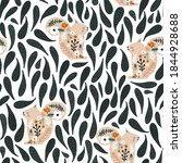 seamless pattern with cute... | Shutterstock .eps vector #1844928688