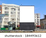 square billboard in the city ... | Shutterstock . vector #184493612