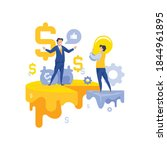 cooperation of financial and... | Shutterstock .eps vector #1844961895