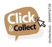 click and collect on speech... | Shutterstock .eps vector #1844976718