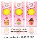cute cartoon happy birthday... | Shutterstock .eps vector #184502336
