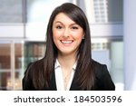 smiling businesswoman  | Shutterstock . vector #184503596