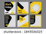 set of minimal editable square... | Shutterstock .eps vector #1845036325
