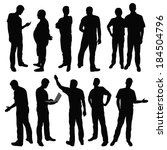black silhouettes of men in... | Shutterstock .eps vector #184504796