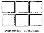 grunge frame set texture....   Shutterstock .eps vector #184506308