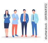 group of multinational team...   Shutterstock .eps vector #1845069352