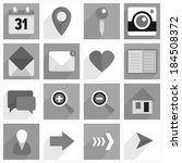 set of flat icons with long... | Shutterstock .eps vector #184508372