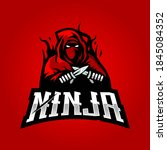 ninja mascot logo design vector ... | Shutterstock .eps vector #1845084352