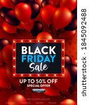 black friday sale poster with... | Shutterstock .eps vector #1845092488