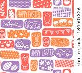 vector seamless easter bunnies  ... | Shutterstock .eps vector #184509326