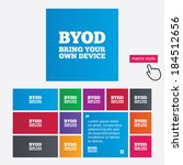 byod sign icon. bring your own... | Shutterstock .eps vector #184512656
