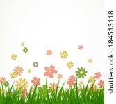 vector illustration of a flower ...   Shutterstock .eps vector #184513118