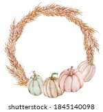 Fall Wreath With Pumpkins....