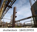 view of old rusty oil and... | Shutterstock . vector #1845159955