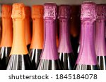 Champagne Bottles In A Row ...
