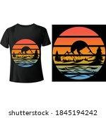 classic retro beach sunset t... | Shutterstock .eps vector #1845194242