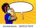 we can do it black african...   Shutterstock .eps vector #1845217045
