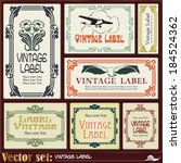 border style labels on... | Shutterstock .eps vector #184524362