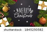 christmas realistic vector... | Shutterstock .eps vector #1845250582