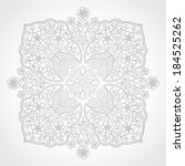 abstract vector floral ornament....   Shutterstock .eps vector #184525262