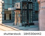 elavator lift for passenger to... | Shutterstock . vector #1845306442