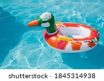 Duck  Inflatable Ring. Rubber...
