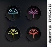 fan dark badge color set icon....