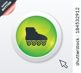 roller skates sign icon....