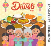 diwali   deepavali greeting... | Shutterstock .eps vector #1845349705