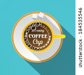 white cup of coffee concept....   Shutterstock .eps vector #184535546