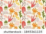 cute trendy motley seamless... | Shutterstock .eps vector #1845361135