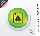 file attention sign icon....