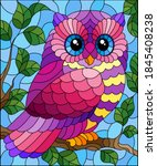 a stained glass illustration... | Shutterstock .eps vector #1845408238