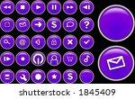 purple glass buttons | Shutterstock . vector #1845409