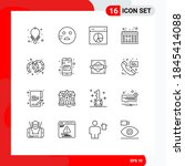 set of 16 commercial outlines...