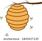 A Bee Hive Full Of Yellow Honey