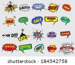 pop art comic sale discount... | Shutterstock .eps vector #184542758