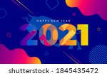 Happy New Year 2021 Colorful...