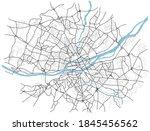 nant city map  france    town... | Shutterstock .eps vector #1845456562