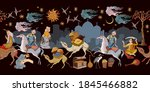 thousand and one nights.... | Shutterstock .eps vector #1845466882