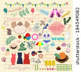 summer icons.   Shutterstock .eps vector #184549082