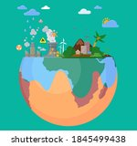 eco friendly  choose right way... | Shutterstock .eps vector #1845499438