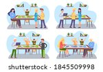 a set of illustrations on the...   Shutterstock .eps vector #1845509998