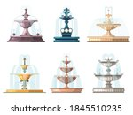 Cartoon Fountains. Outdoor...