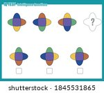 educational game for kids and... | Shutterstock .eps vector #1845531865