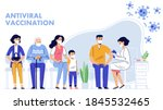 people vaccination concept for... | Shutterstock .eps vector #1845532465