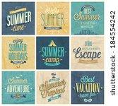 summer set   labels and emblems. | Shutterstock .eps vector #184554242