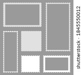 scallop of postcard. border of... | Shutterstock .eps vector #1845550012