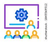 presentation blackboard icon... | Shutterstock .eps vector #1845569512