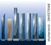 skyscrapers modern downtown...   Shutterstock .eps vector #1845575068
